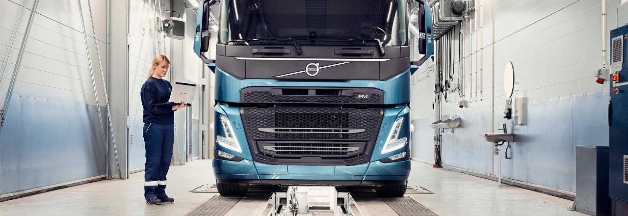 Högre tillgänglighet och en väl underhållen lastbil